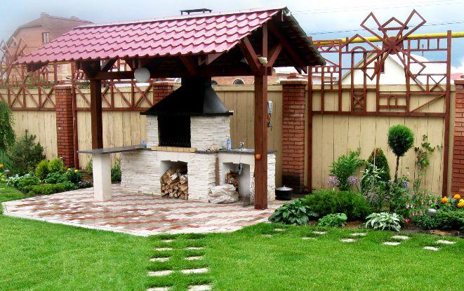 Печь-барбекю на даче