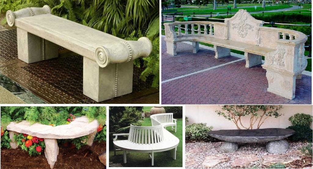 Виды садовых скамеек